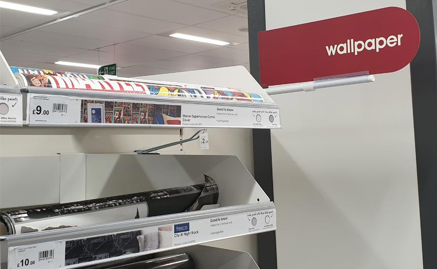 Wilko shows a strong commitment to categories including bedding and wallpaper.