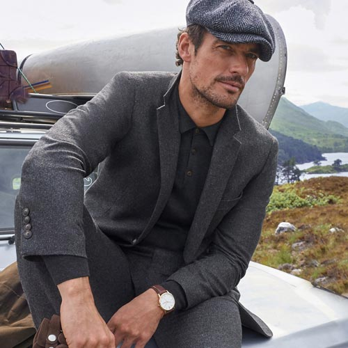 M&S has worked with Oxfam's recycling centre to gather fibres to weave into new ones, such as its men's Charcoal suit.