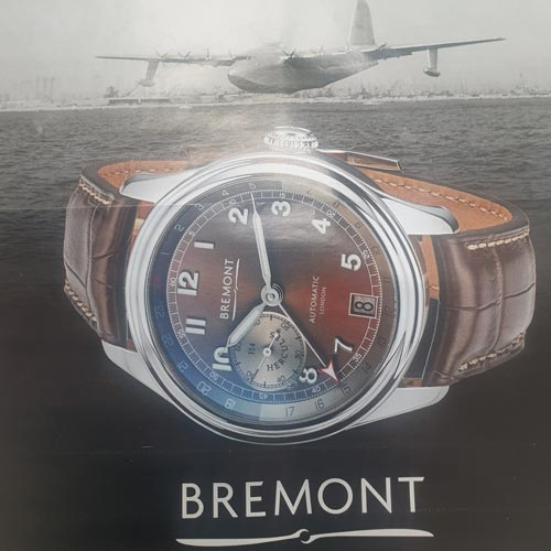 The Bremont watch pays tribute to Howard Hughes' H-4 Hercules flying boat.