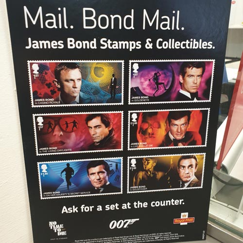 The new James Bond collection from The Royal Mail will appeal to fans of the franchise and stamp collectors.