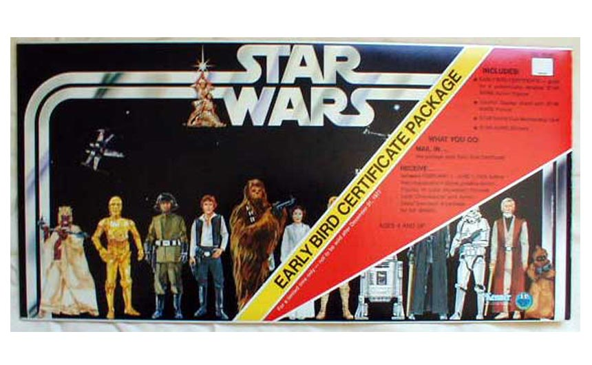The Star Wars Early Bird Certificate Package has been described as one of the great marketing coups in the history of toy retailing.