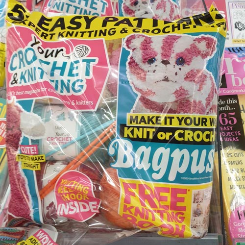 Crafting magazines have been featuring more licensed characters in their titles.