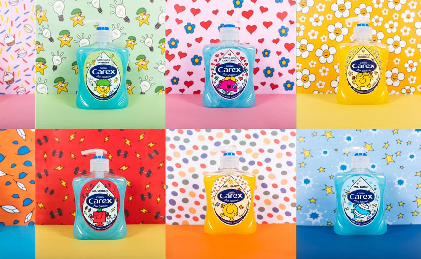 The Mr Men Little Miss brand teamed with Carex last year.