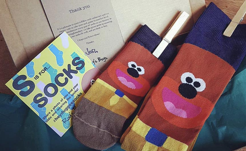 Roy Lowe's Hey Duggee sock range included adult and child gift sets.