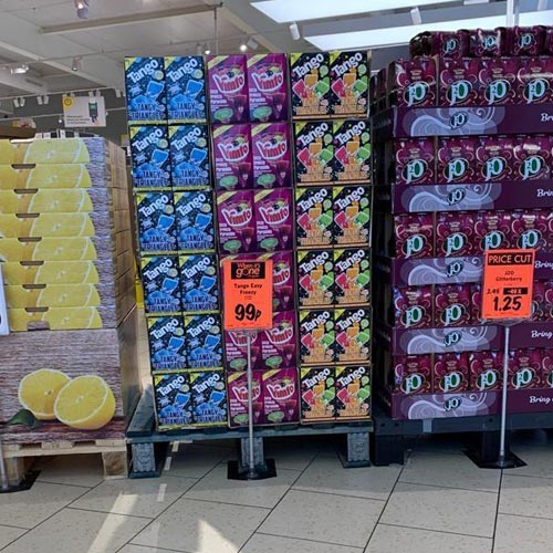 Rose Marketing has secured some good retail placements including the coveted 'middle of Lidl' feature.