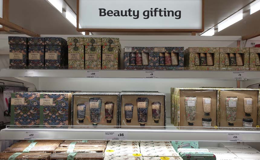The Morris & Co brand had a wide range of product in beauty gifting.