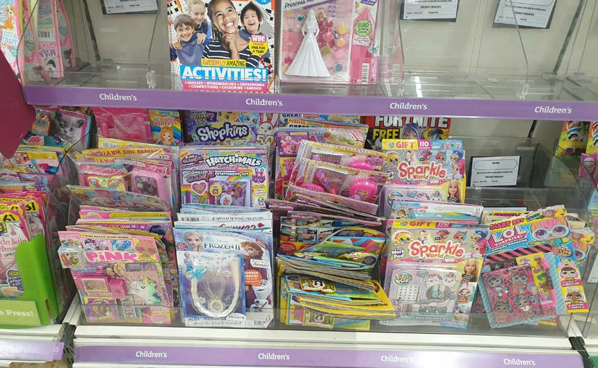 The children's comics and magazines category is very busy and has come to rely on licensing.