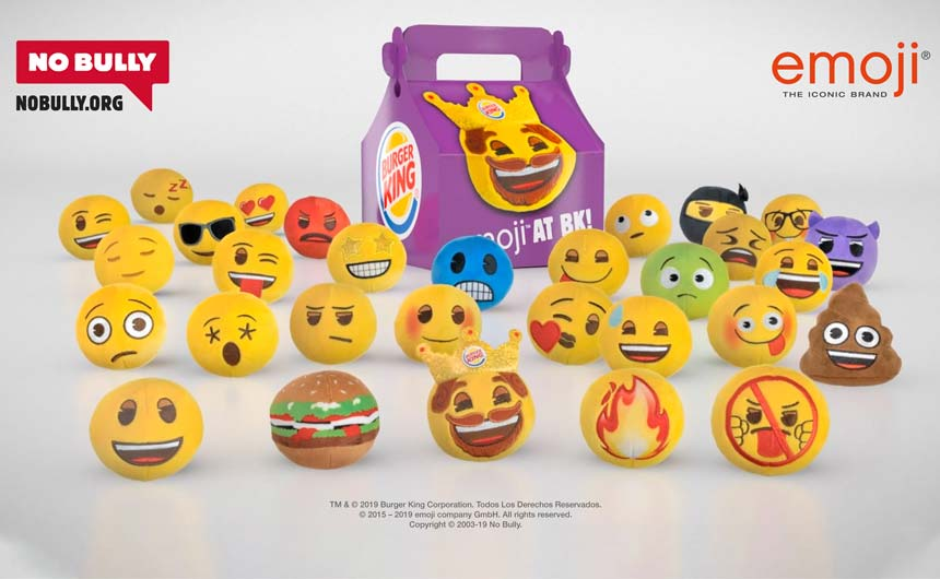 Burger King is due to launch a QSR programme with emoji plush.