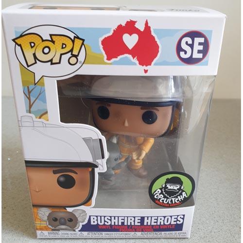 The Funko Pop Vinyl Bushfire Heroes figurine is raising funds for The Bushfire Appeal in Australia.