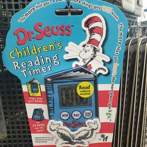 IF's Dr Seuss range includes a Children's Reading Timer.