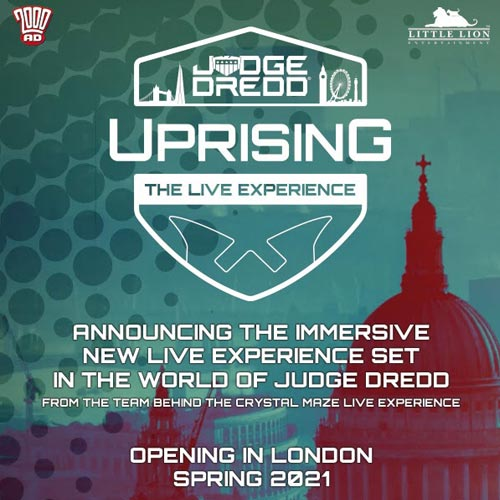Judge Dredd Uprising is a live action immersive attraction heading to London in 2021.