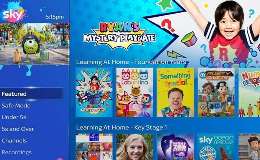 Ryan has been involved with Sky's Learning Hub during lockdown in the UK.