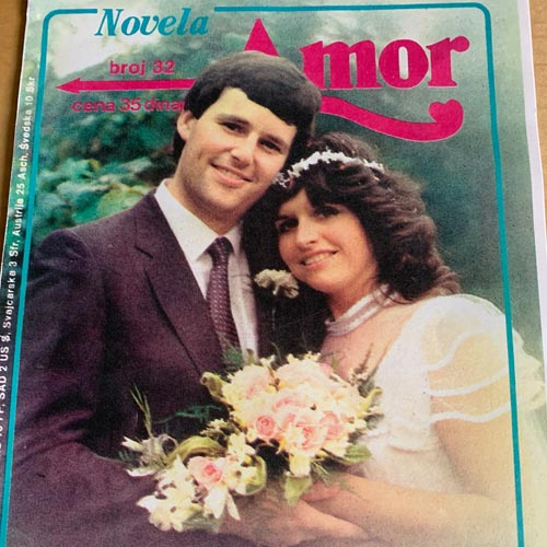 John and his wife Collette were the cover stars of a Yugoslav Mills & Boon edition.