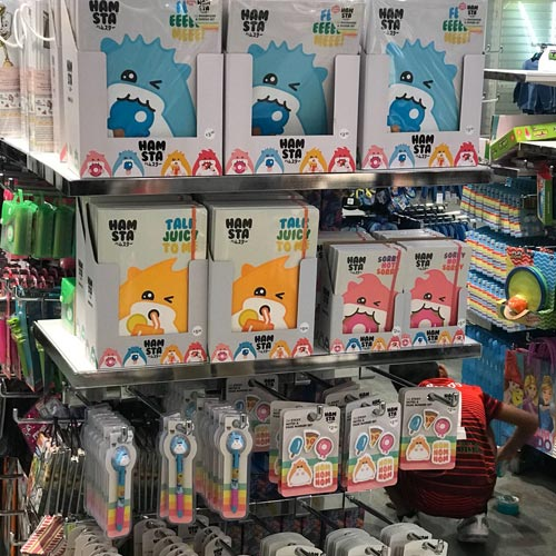 Blue Sky Designs placed the Hamsta brand into Primark, helping to raise awareness.