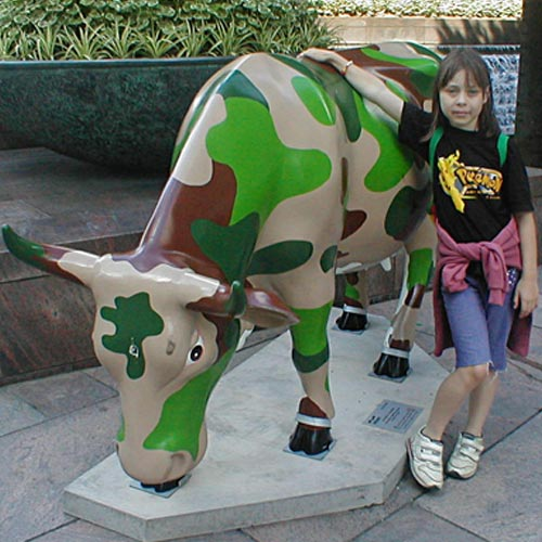 The CowParade was the first art display to take to the city streets in 2002.