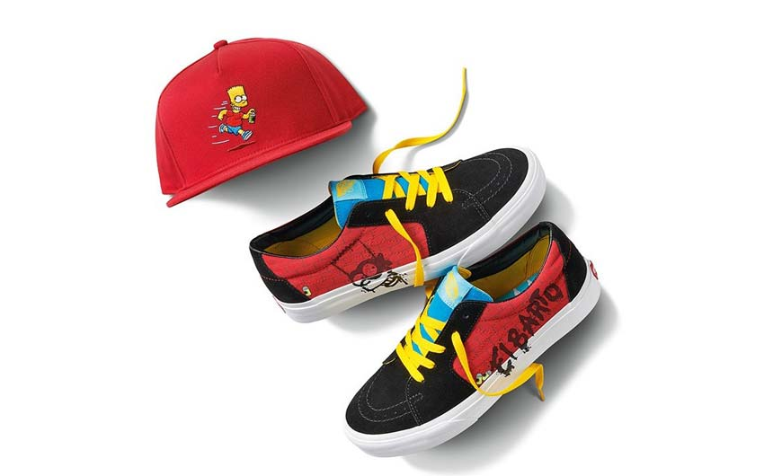 VANS has collaborated with The Simpsons on apparel and footwear.