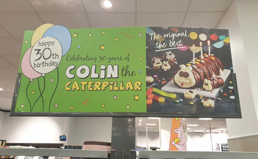 M&S' Colin the Caterpillar is 30 this year.