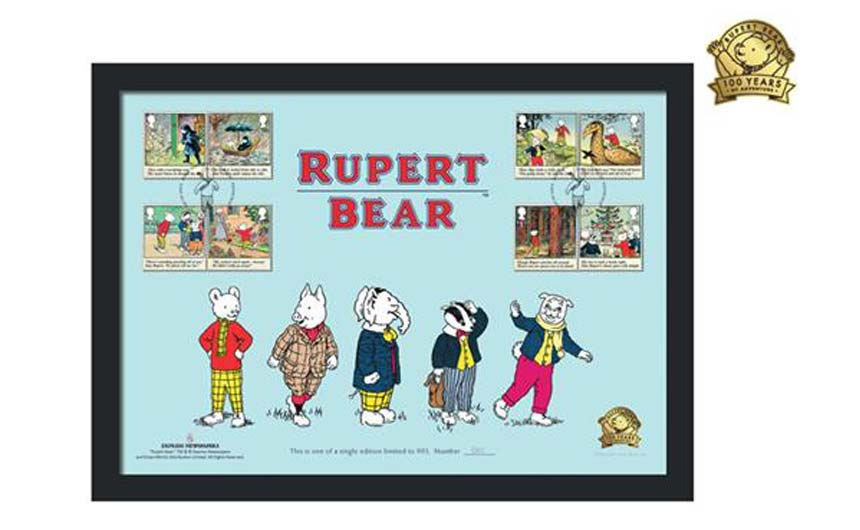 The Rupert Bear collection of stamps is another product range fired up by an anniversary.