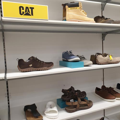 There was a lot of space dedicated to the CAT brand in Debenhams.