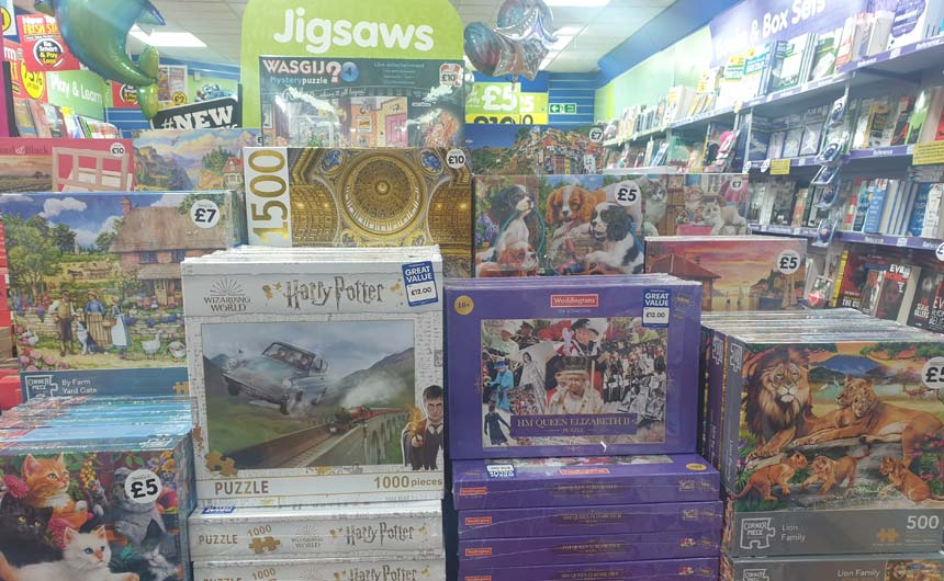 The Works has stocked up in the jigsaw and board game category.