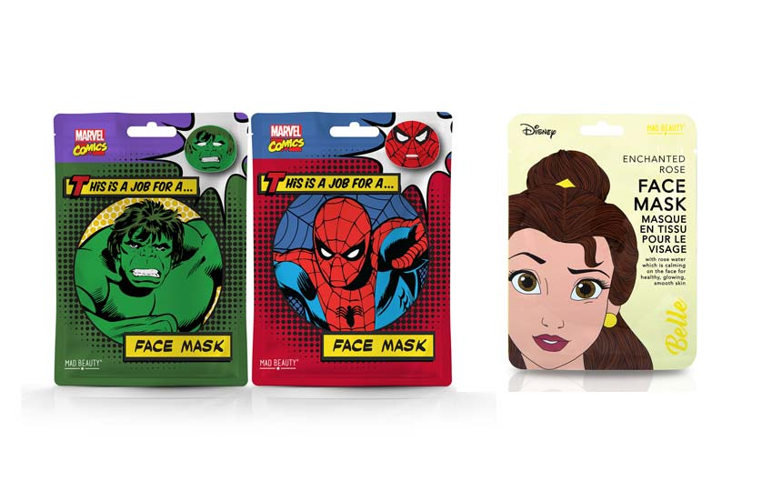 The company's face masks range from Marvel superheroes to Disney Princesses.