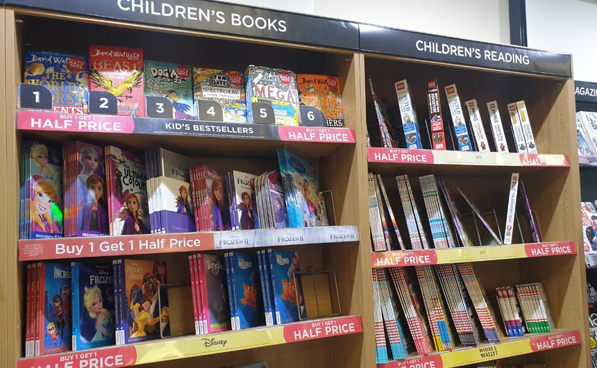 There was good representation of licensed brands in the book department.