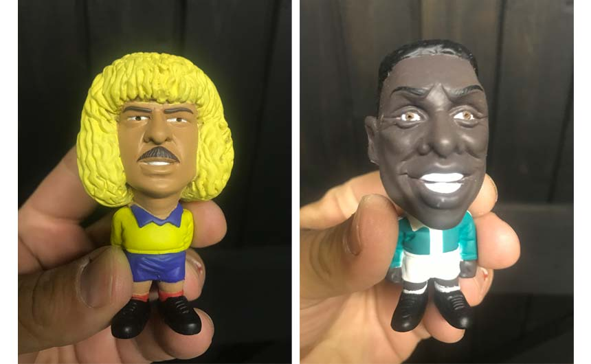 Simon still has a set of four-inch World Stars figurines created while at TCC.