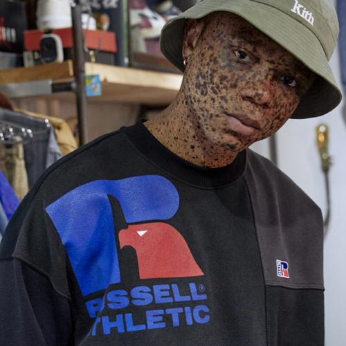 The Russell Athletic x KITH collection has great logo play.