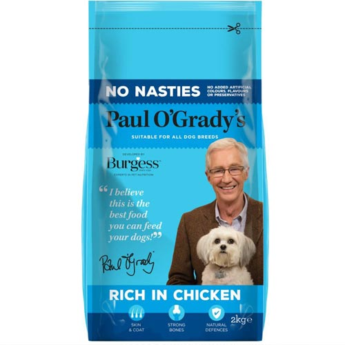 Paul O'Grady's new pet food line has launched into B&M.
