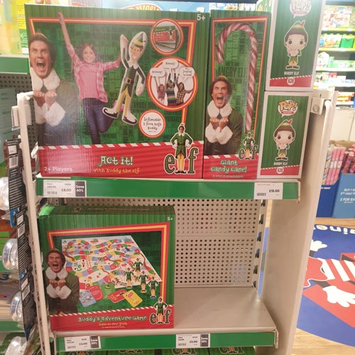 Elf products are appealing to shoppers' Christmas spirit in The Entertainer.