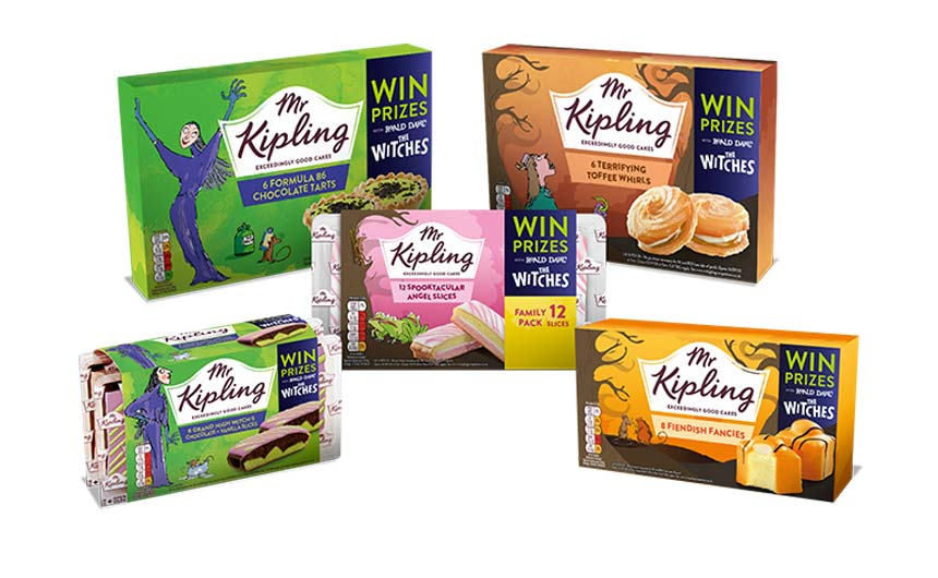 Mr Kipling and Roald Dahl have created some specific Halloween products and promotions.