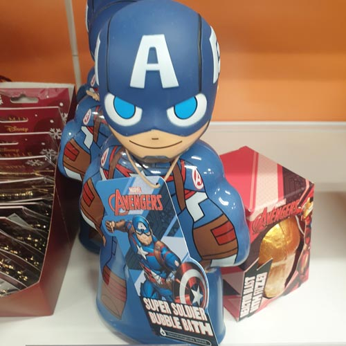 3D bubble baths have evolved over time becoming high-spec, like this Avengers example in Superdrug.