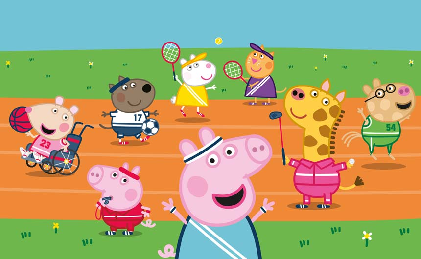 Peppa Pig is an official partner for Team GB.