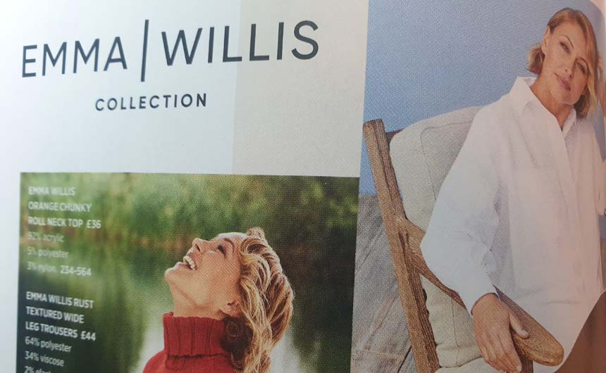 Emma Willis models her own range in the latest Next catalogue.
