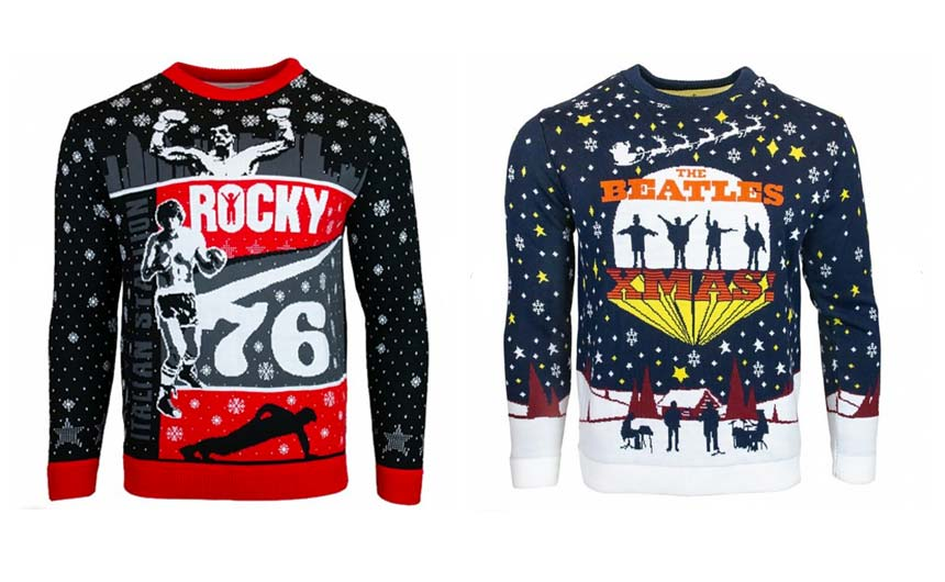 TruffleShuffle's Christmas jumper line-up includes Rocky and The Beatles this year.