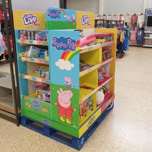 A Peppa Pig pop up display had been delivered in by Character Options.