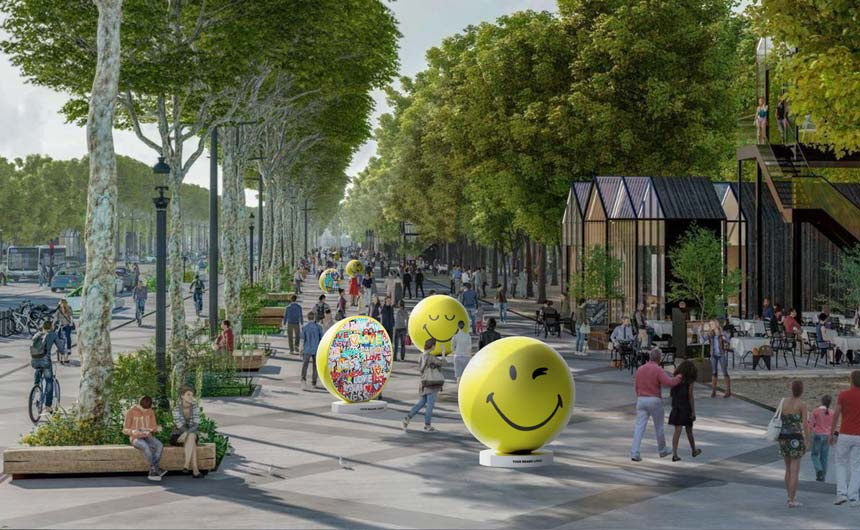 A public art trail will see giant Smileys appearing at major global landmarks.