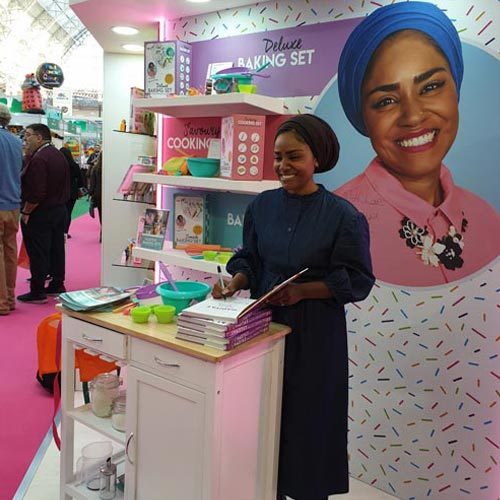 Nadiya appeared at London Toy Fair back in January to promote her new range with Wilton Bradley.