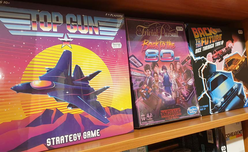 Board games based on classic film franchises were included in Waterstones' offer.