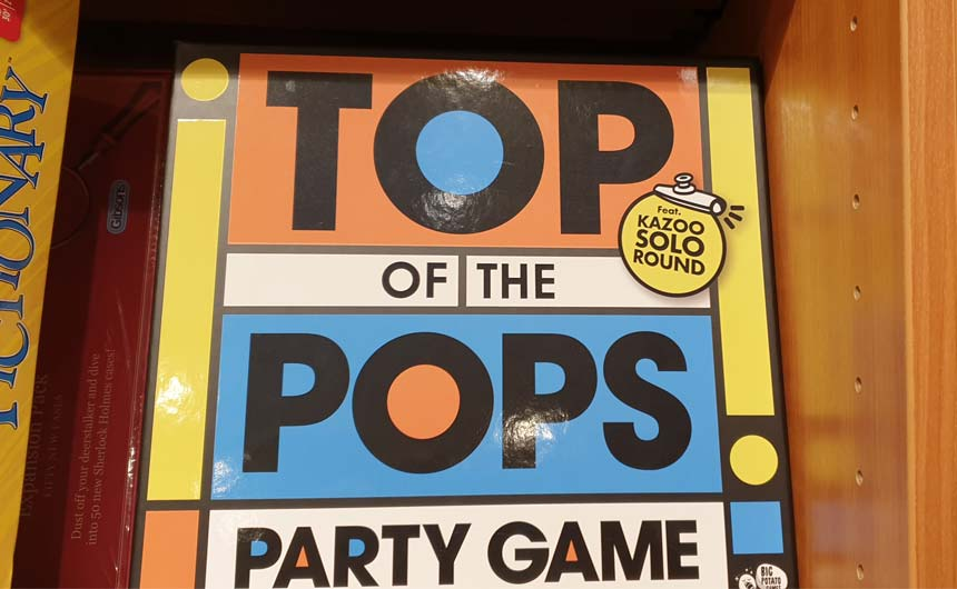 The Kazoo Solo Round in this Top of the Pops board game peaked Ian's interest.