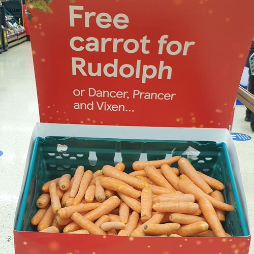 The Tesco 'free carrot for Rudolph' offer was easy to understand and participate in.
