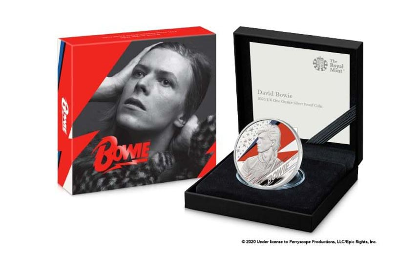 The Westminster Collection is selling a proof coin featuring David Bowie.