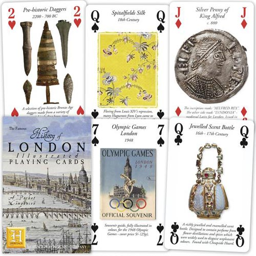 The History of London playing cards showcase the collection in the Museum of London well.