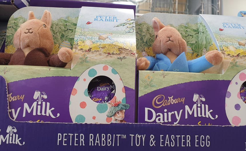 Cadbury's range includes a Peter Rabbit egg complete with a plush toy.