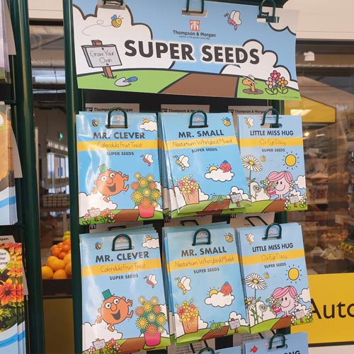 The Mr Men Little Miss seed range from Thompson & Morgan uses the characters well.
