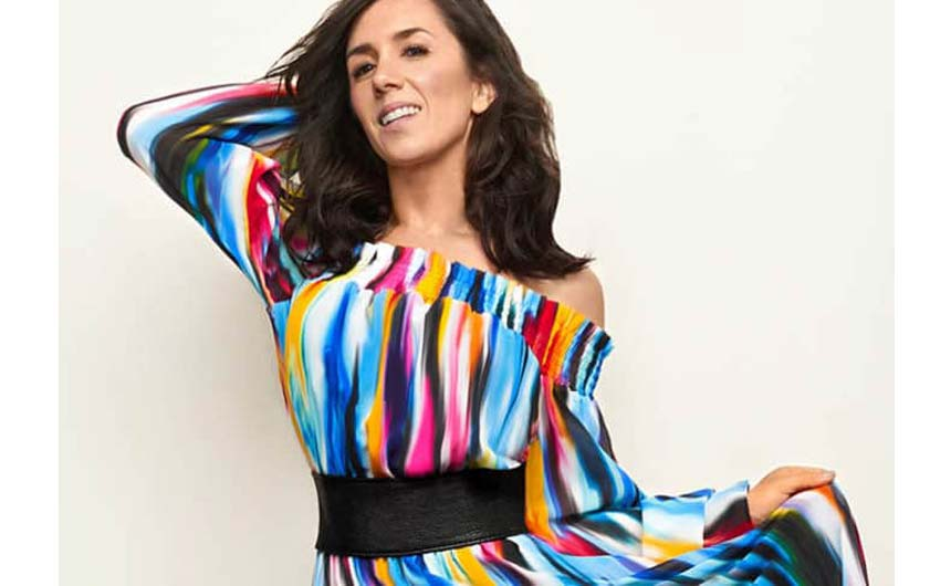 Janette Manrara - who was Julian Macdonald's Strictly dance partner - is promoting his new collaboration with Freemans.