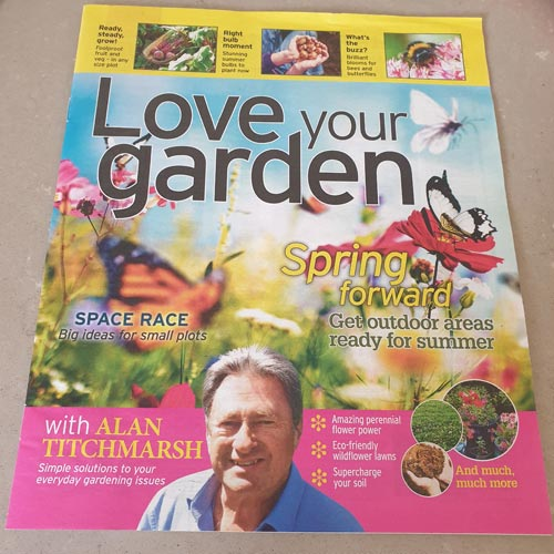 The Love Your Garden magazine was featured prominently by the Daily Mirror.