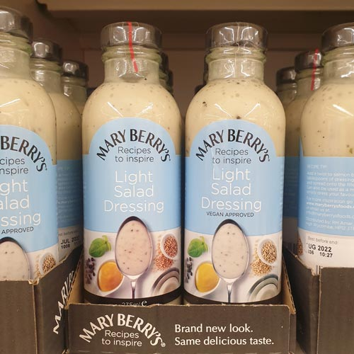 Mary Berry's dressings range is now well established in-store.