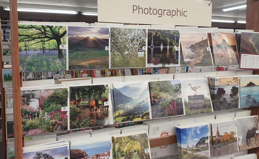 Licensed greeting cards featured a lot of garden-related and heritage brands.