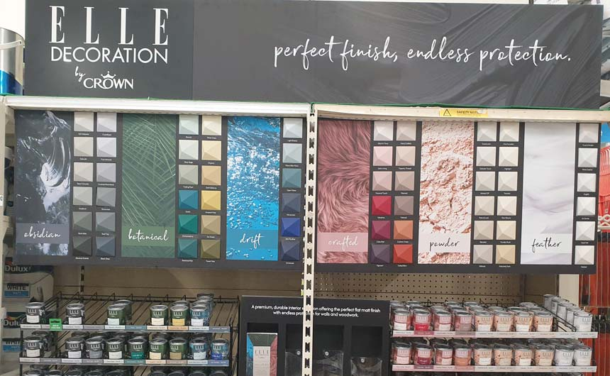 A collaboration between Crown and Elle Decoration has resulted in the launch of a new paint range.